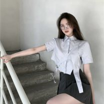 skirt Spring 2021 S,M,L Shirt, skirt Short skirt commute High waist Pleated skirt Solid color 18-24 years old 0327+ 51% (inclusive) - 70% (inclusive) Other / other cotton Retro