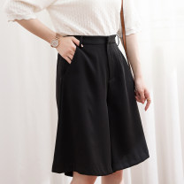 Casual pants Graph color S 36,M 38,L 40,XL 42 Summer 2020 Pant Wide leg pants High waist Thin money L87