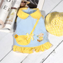 Pet clothing / raincoat currency Couples dress Other / other princess Yellow kindergarten vest, yellow kindergarten skirt, yellow kindergarten hat