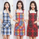apron Blue, crimson, seven colors, orange Sleeveless apron antifouling Japanese  pure cotton Household cleaning Average size 6097BU Jiaqili the post-80s generation yes like a breath of fresh air