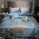 Bedding Set / four piece set / multi piece set ZYJ Wellington blue four piece set ZYJ Wellington white four piece set ZYJ Wellington silver grey four piece set One hundred Dance Color Home Textiles 4 pieces Other /other cotton 400*100 Embroidery Other cotton Sheet bed type Qualified products Jacquard