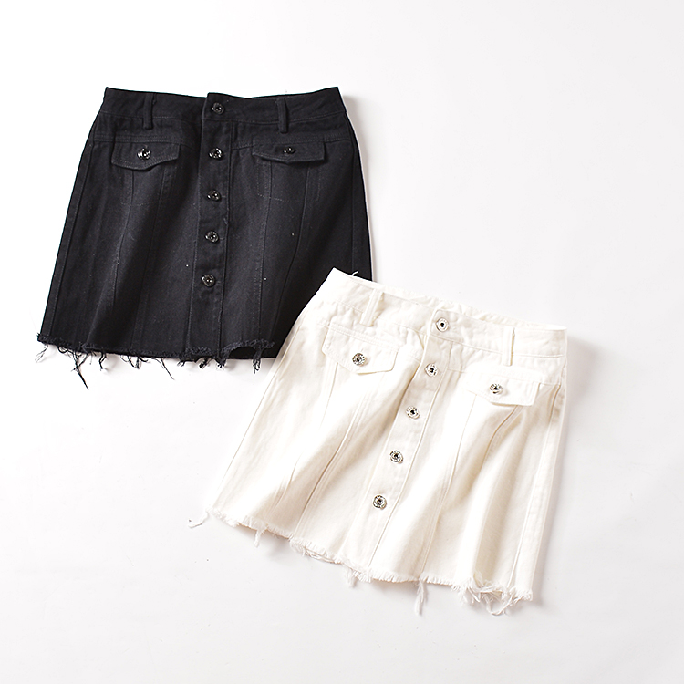 skirt Autumn of 2018 S M L White black Short skirt commute Natural waist A-line skirt Solid color Type A 18-24 years old SG127773 30% and below Korean version
