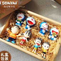 Doll / Ornament / hardware doll goods in stock Movies Chinese Mainland No gift box (self use with adhesive tape) gift box packaging (hand-held gift bag) gift box packaging + light string (hand-held gift bag) PVC Doraemon / robotic cat Home furnishings, desktop furnishings, car furnishings TOMYMI