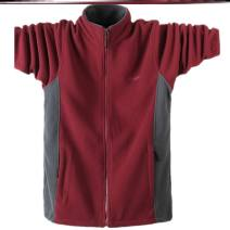 Jacket Other / other Youth fashion Dark gray, black, dark blue, u58-t-black, B14 jujube, d55-c-blue, d60-o-navy, a86-s-dark gray, U20 jujube, plush and thickened thick easy Other leisure winter Long sleeves Wear out stand collar tide Large size routine Zipper placket Round hem Closing sleeve
