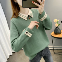 Wool knitwear Spring 2021 S M L XL Orange khaki green black yellow Long sleeves singleton  Socket other More than 95% Regular Thin money commute easy square neck routine Solid color Socket Korean version TTL15172 25-29 years old Han Baiying Stitching buttons Other 100% Pure e-commerce (online only)