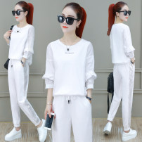 Fashion suit Summer 2021 50. XL, m, 2XL Black, gray, white, green, pink 25-35 years old Other / other GZX-JYM-JH19916 91% (inclusive) - 95% (inclusive) cotton