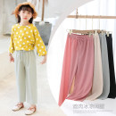 trousers Xiya bear female 90cm 100cm 110cm 120cm 130cm 140cm 150cm summer trousers lady There are models in the real shooting Harlem Pants / knickerbockers Tether middle-waisted Don't open the crotch Other 100% TZ384 Summer 2020