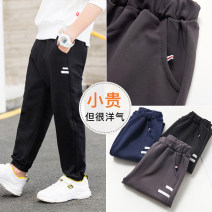 trousers Xiya bear female 100cm 110cm 120cm 130cm 140cm 150cm 160cm Navy Black Brown spring and autumn trousers leisure time There are models in the real shooting Sports pants Leather belt middle-waisted cotton Don't open the crotch Cotton 95% polyurethane elastic fiber (spandex) 5% TZ380 Spring 2020