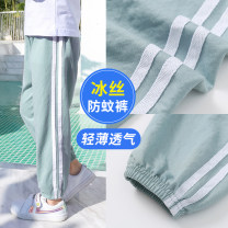 trousers Xiya bear neutral summer trousers leisure time There are models in the real shooting Knickerbockers Leather belt middle-waisted Don't open the crotch Spring of 2019 Chinese Mainland Zhejiang Province Jinhua City
