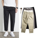 Casual pants Others Youth fashion Black, gray, khaki, apricot 28,29,30,31,32,33,34,35,36 thin Ninth pants Other leisure Straight cylinder Micro bomb summer teenagers Simplicity in Europe and America 2020 middle-waisted Straight cylinder Cotton 97% polyurethane elastic fiber (spandex) 3% Tapered pants