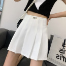 skirt Summer 2021 M,L,XL White, black Short skirt commute High waist A-line skirt letter Type A 25-29 years old 402-3 71% (inclusive) - 80% (inclusive) other other Drape, drape Korean version