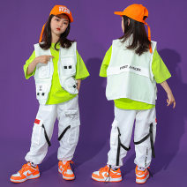 Children's performance clothes neutral Zhiduo beans Class B ZZ30117 Street dance other 4 years old, 5 years old, 6 years old, 7 years old, 8 years old, 9 years old, 10 years old, 11 years old, 12 years old, 13 years old, 14 years old Summer 2021 Chinese Mainland Hip hop Zhejiang Province Huzhou City