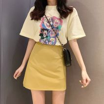Professional dress suit S,M,L,XL Yellow, pink Summer of 2019