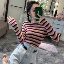 Wool knitwear Autumn of 2019 Average size Pink, blue, yellow Long sleeves Socket other 30% and below commute Korean version 18-24 years old