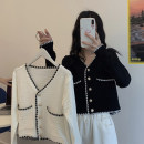 Wool knitwear Summer 2020 Average size White, black Long sleeves singleton  Cardigan other 30% and below have cash less than that is registered in the accounts routine commute V-neck routine Single breasted Korean version 18-24 years old