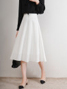 skirt Autumn 2020 XS S M L XL White black yellow Mid length dress commute Natural waist A-line skirt Solid color Type A 25-29 years old U21352F More than 95% UFP other Retro Other 100% Pure e-commerce (online only)