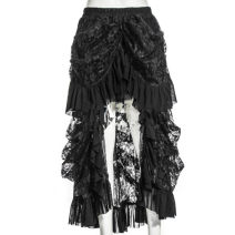 skirt Summer 2021 S,M,L black longuette street Irregular Solid color 18-24 years old 6705# 71% (inclusive) - 80% (inclusive) Lace 40g / m ^ 2 and below Europe and America