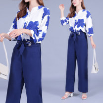Fashion suit Summer 2020 S,M,L,XL,XXL,XXXL Blue two piece set 25-35 years old China 6870