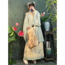 Hanfu 96% and above Summer 2021 Single cloud shoulder, top + skirt, top + skirt + cloud shoulder S,M,L,XL polyester fiber