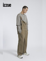 Casual pants izzue Youth fashion BGT / greyish green S L trousers Other leisure Straight cylinder IZXJUN6601S1G Cotton 100% Spring 2021 Same model in shopping mall (sold online and offline)