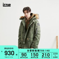 cotton-padded clothes Black Khaki izzue S M L XL Youth fashion routine standard Other leisure IZXJKH7169F8B Polyamide fiber (nylon) 100% Hood youth zipper Youthful vigor Winter of 2018 Solid color Digging bags with lids Same model in shopping mall (sold online and offline) winter