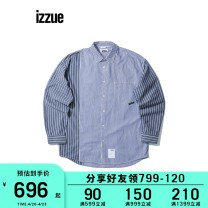 shirt Youth fashion izzue S M L XL routine other Long sleeves standard Other leisure Cotton 100% Spring 2021