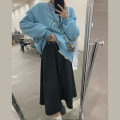 skirt Winter 2020 S,M,L black Mid length dress commute High waist A-line skirt Solid color 18-24 years old B1655Z11 71% (inclusive) - 80% (inclusive) polyester fiber Korean version