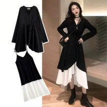 Fashion suit Spring 2020 S (recommended 80-95 kg), m (recommended 95-110 kg), l (recommended 110-120 kg), XL (recommended 120-140 kg), 2XL (recommended 140-160 kg), 3XL (recommended 160-180 kg), 4XL (recommended 180-200 kg) Black skirt + suspender skirt 18-25 years old 30% and below polyester fiber