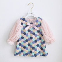 Dress In stock, scheduled 7-15 days delivery female Other / other 80cm,90cm,100cm,110cm,120cm,130cm,70cm Cotton 80% other 20% spring and autumn Long sleeves cotton Princess Dress 3 months, 12 months, 6 months, 9 months, 18 months, 2 years old, 3 years old, 4 years old, 5 years old Chinese Mainland