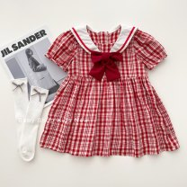 Dress Stock, order female Other / other 80cm,90cm,100cm,110cm,120cm Cotton 80% other 20% summer Short sleeve cotton A-line skirt 3 months, 12 months, 6 months, 9 months, 18 months, 2 years old, 3 years old, 4 years old, 5 years old, 6 years old, 7 years old