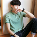 T-shirt Fashion City thin Others Short sleeve Lapel Self cultivation Other leisure summer youth routine Exquisite Korean style 2018 Solid color cotton other No iron treatment Fashion brand 90% (inclusive) - 95% (inclusive)