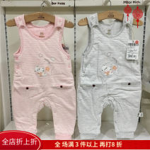 trousers Milo bear neutral 66cm,73cm,80cm Grey, blue, pink spring and autumn trousers No model rompers Button middle-waisted cotton Open crotch Cotton 95% polyurethane elastic fiber (spandex) 5% M6K0237D Class A M6K 3 months, 12 months, 6 months, 9 months, 18 months