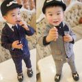 Suit / Blazer Other / other male There are models in the real shooting Korean version spring and autumn lattice Single breasted routine Cotton blended fabric Class B Other 100% Cotton liner 2 years old, 3 years old, 4 years old, 5 years old, 6 years old