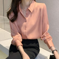shirt Champagne pink Khaki S M L XL 2XL Autumn 2020 other 96% and above Long sleeves commute Medium length Polo collar Single row multi button routine Solid color 25-29 years old Straight cylinder Fashang dream Ol style Other 100% Pure e-commerce (online only)