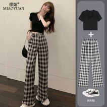 Casual pants 009-613? Picture color tgc-835? Thousand bird tgc-835? Letter yk-556? Picture color yk-316? Picture color yk-558? Picture color yk-566? Picture color S M L XL 3XL 4XL XXL Autumn 2020 trousers Wide leg pants High waist commute routine 51% (inclusive) - 70% (inclusive) 009-613# other