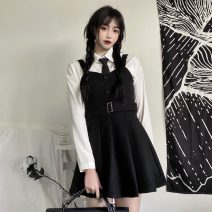 Dress Spring 2021 M, L Short skirt Two piece set Long sleeves A-line skirt routine Type A 31% (inclusive) - 50% (inclusive) polyester fiber
