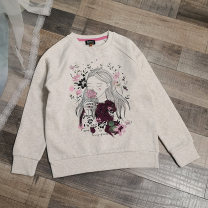 Sweater / sweater Other / other Beige female Mark: 128cm, mark: 134cm, mark: 140cm, mark: 146cm, mark: 152cm, mark: 158CM, mark: 164CM spring and autumn nothing Socket Plush Cotton blended fabric Cotton 80% polyester 20%