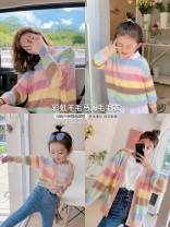 Parent child fashion Women's dress female Other / other spring and autumn Korean version routine stripe Sweater / sweater other L,M,S,XL Class A 2, 3, 4, 5, 6, 7, 8, 9, 10 years old