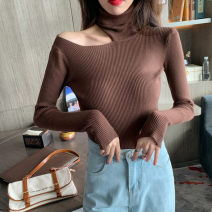 Wool knitwear Autumn of 2019 Average size White, blue, coffee, black, milk tea Long sleeves singleton  Socket other 31% (inclusive) - 50% (inclusive) Regular routine commute Self cultivation routine Solid color Socket Korean version Real shot 18-24 years old