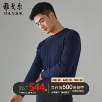 T-shirt / sweater Youngor other Dark blue 95cm 100cm 105cm 110cm 115cm routine Socket Crew neck Long sleeves VYHW639996FYA winter Straight cylinder Wool 90.5% camel down 9.5% Business Casual youth other Winter 2020 Same model in shopping mall (sold online and offline)