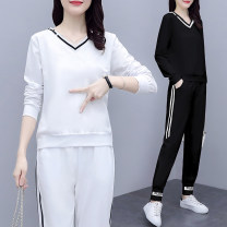 Casual suit Spring 2020 White, red, black S M L XL 2XL 3XL 25-35 years old 429 real shot CVC cotton_ eighty-seven thousand one hundred and fifty-five Xiangduoer (clothing) Polyester 75% cotton 20% polyurethane elastic fiber (spandex) 5%
