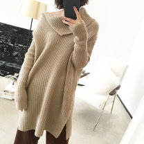 sweater Winter 2017 S, M Long sleeves Socket singleton  Medium length other 95% and above other thickening commute routine Solid color Straight cylinder Keep warm and warm 13C