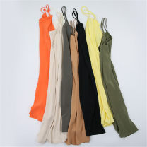 Vest sling Spring 2021 Average size singleton  Medium length Straight cylinder Versatile camisole Solid color 96% and above silk Nine silkworms