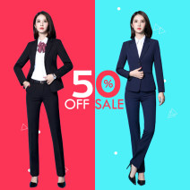 Professional pants suit Fall 2017 Shirts, coats, other styles Long sleeves trousers G2000 25-35 years old 91% (inclusive) - 95% (inclusive) polyester fiber