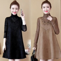 Women's large 8120-1 Condom Crew neck Medium and long term 25-29 years old Povera Other 100% Pure e-commerce (online sales only) Summer 2020 Dress Two piece set commute easy Design and color Korean version Stereoscopic cutting M L XL 2XL 3XL 4XL 5XL Khaki black red