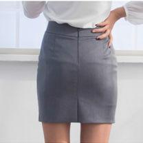 skirt Spring of 2019 XS,S,M,L,XL,2XL,3XL,4XL Short skirt commute Natural waist Suit skirt Solid color Type H Q66 30% and below other cotton zipper Simplicity