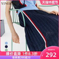 skirt Summer 2020 36 38 40 42 44 46 Blue Navy green Middle-skirt commute Natural waist Pleated skirt stripe Type A 30-34 years old 8C50206336 71% (inclusive) - 80% (inclusive) Sound Viscose Embroidery Ol style Viscose fiber (viscose fiber) 73.3% polyester fiber 19.3% metal coated fiber 7.4%