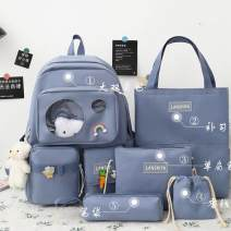 Backpack canvas Other / other zipper Polyester (polyester fiber) Sewing 15 inches
