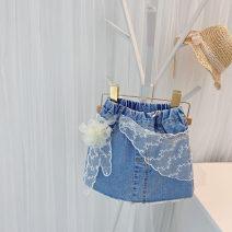 skirt 80cm,90cm,100cm,110cm,120cm,130cm shorts Other / other female Other 100% summer skirt Korean version Solid color Denim skirt other Class B