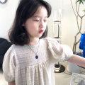 Dress Apricot female Send sauce 7(100),9(110),11(120),13(130),15(140),17(150),17(160) Other 100% summer Korean version Short sleeve Dot blending A-line skirt Class B Seven, eight, three, six, two, five, four, ten, nine Chinese Mainland